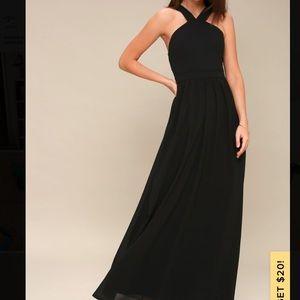 Lulus Air of Romance Black Maxi Dress